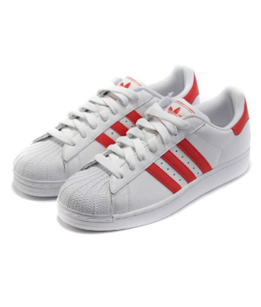 red and white adidas shoes